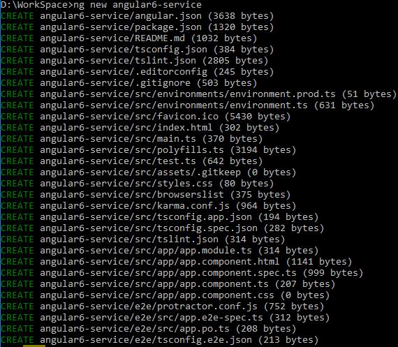 angular-6-services + create-angular6- project
