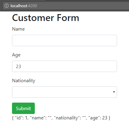 angular-6-template-driven-form + form-setup-angular-ngForm-two-way-data-binding