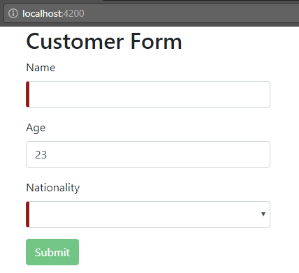 angular-6-template-driven-form + initial-form-submit-button-hidden