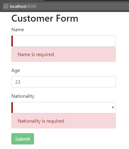angular-6-template-driven-form +message-error
