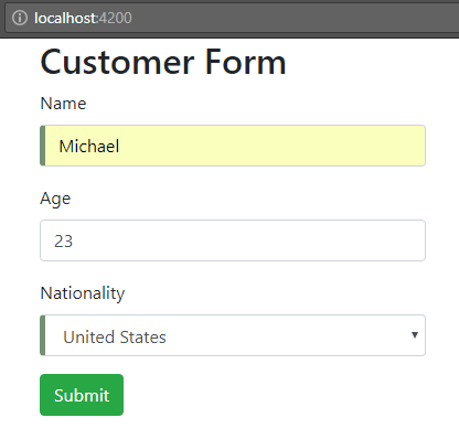 angular-6-template-driven-form +submit-button-enable