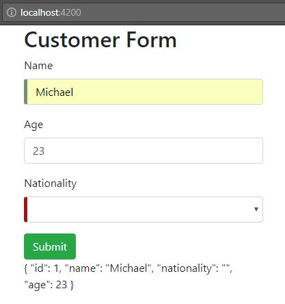 angular-6-template-driven-form +visual-feedback-using-angular-css