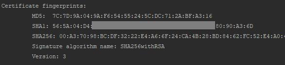 integrate-flutter-firebase-example-get-sha-1