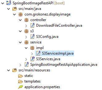 Angular-6-Display-Image-Amazon-S3-Spring-Boot-Rest-API + spring-boot-project-structure