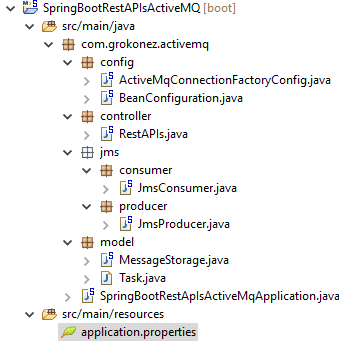 Angular-6-Spring-Boot-RestAPI-ActiveMQ-Producer-Consumer +springboot-project-structure