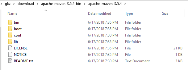 Install-Maven-in-Windows +extract-maven-3.5.4