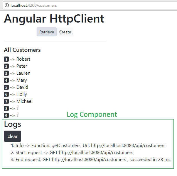 angular-6-httpclient-log-interceptor-example-with-nodejs-backend + log results when successfully