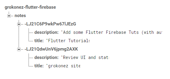 Flutter Firebase Database example - Firebase Database CRUD with