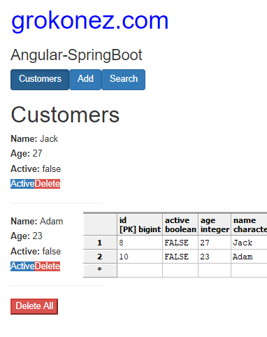 kotlin-spring-boot-angular-6-httpclient-spring-rest-api-data-postgresql-database + delete-customer