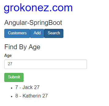 spring-boot-angular-6-httpclient-spring-rest-api-data-h2-in-memory-database + search-customers