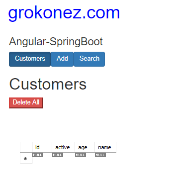spring-boot-angular-6-httpclient-spring-rest-api-data-mariadb + delete-all-customers