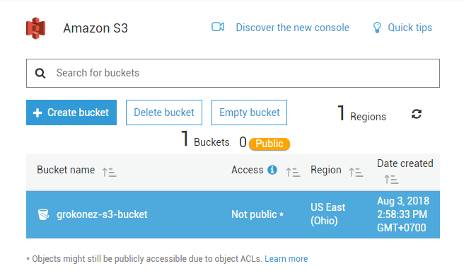 springboot-rest-api-upload-download-file-image-s3-aws + create bucket succeed