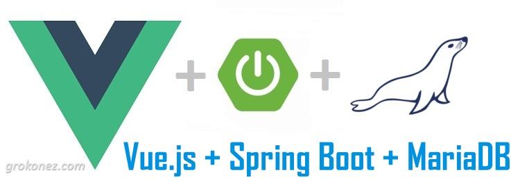 Vue.js + Spring Boot example | Spring Data JPA + REST + MariaDB CRUD