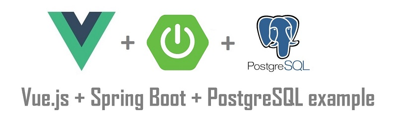 Spring Boot + Vue js example | Spring Data JPA + REST + PostgreSQL