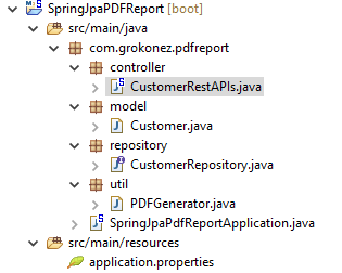 iText PDF + SpringBoot RestAPI - Extract MySQL Data to PDF