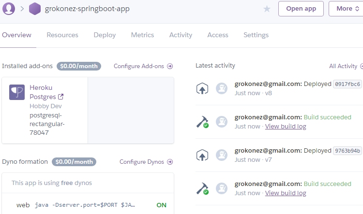 Deploy-SpringBoot-with-PostgreSQL-on-Heroku-hosting---app+db