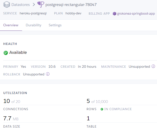 Deploy-SpringBoot-with-PostgreSQL-on-Heroku-hosting---postgresql-heroku
