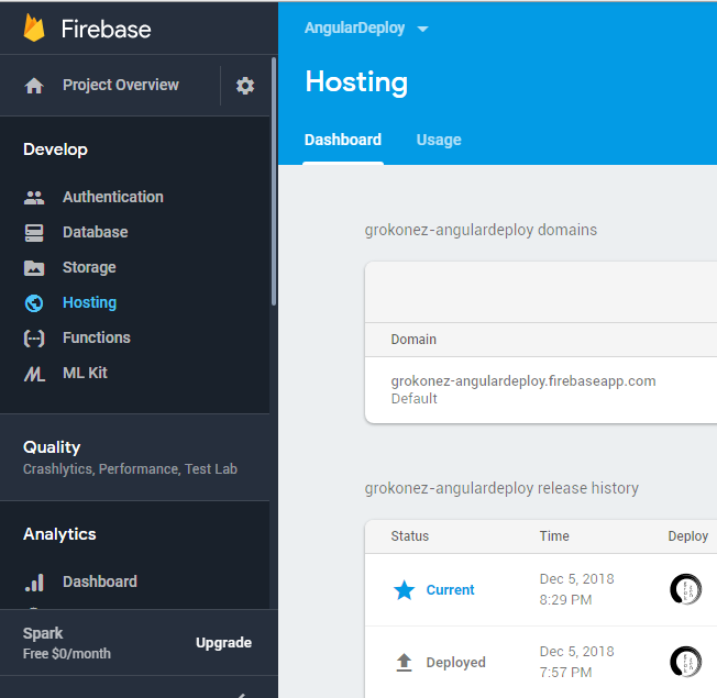 deploy-angular-application-on-firebase-hosting-dashboard