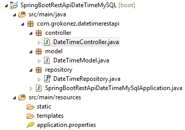 spring-boot-rest-api-date-time-mysql-post-json-form-project-structure